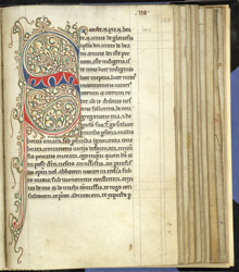 Decorated Initial, In A Miscellany From Ely f.128r